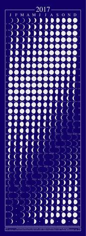 Blue poster lunar calendar